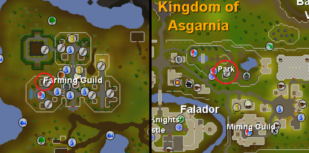 tree patches in osrs